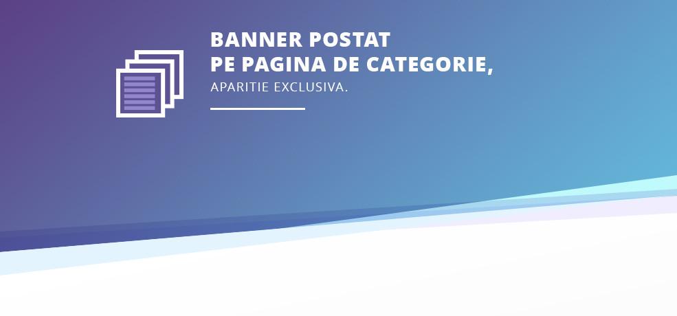 Banner postat pe pagina de categorie