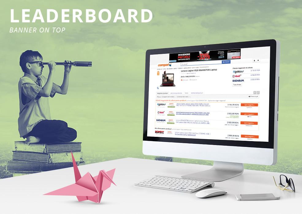 Leaderboard - Banner on top