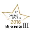 Ország Boltja 2016 Minőségi díj III. helyezett